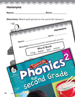 Second Grade Foundational Phonics Skills: Homonyms