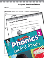Second Grade Foundational Phonics Skills: Long and Short Vowel Words