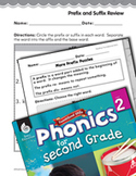 Second Grade Foundational Phonics Skills: Prefix and Suffix Review