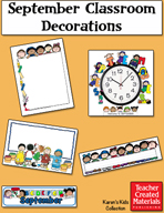 September Classroom Decorations by Karen's Kids