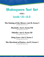 Shakespeare Text Set (Levels 1.5-2.2)