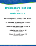Shakespeare Text Set (Levels 3.0-3.5)