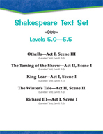 Shakespeare Text Set (Levels 5.0-5.5)