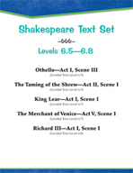 Shakespeare Text Set (Levels 6.5-6.8)