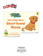 Short-Vowel Words - Give a Dog a Bone Literacy Center