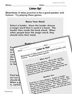 Speaking and Listening: Practice