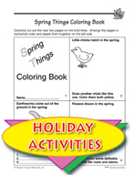 Springtime Coloring Book and Poems