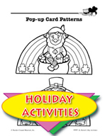 St. Patrick's Day Activities - Pop-Up Card Patterns and Other Art Activities