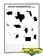 States, Capitals, and D.C. Critical Thinking Activities an