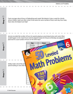 Statistics and Probability Leveled Problems: Changing the Mean, Median, or Mode