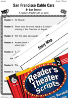 Story Elements-San Francisco Cable Cars Reader's Theater Script and Lesson