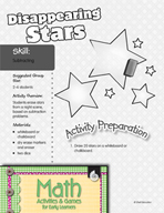Subtracting - Disappearing Stars Game