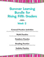 Summer Learning Bundle for Rising Fifth Graders - Week 2