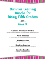 Summer Learning Bundle for Rising Fifth Graders - Week 3