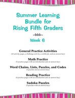 Summer Learning Bundle for Rising Fifth Graders - Week 6