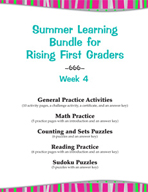 Summer Learning Bundle for Rising First Graders - Week 4
