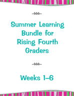 Summer Learning Bundle for Rising Fourth Graders - Weeks 1-6