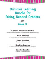 Summer Learning Bundle for Rising Second Graders - Week 3