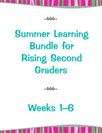 Summer Learning Bundle for Rising Second Graders - Weeks 1-6