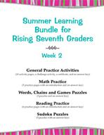 Summer Learning Bundle for Rising Seventh Graders - Week 2