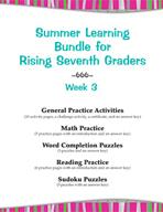 Summer Learning Bundle for Rising Seventh Graders - Week 3