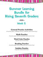 Summer Learning Bundle for Rising Seventh Graders - Week 5