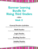 Summer Learning Bundle for Rising Third Graders - Week 2
