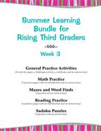 Summer Learning Bundle for Rising Third Graders - Week 3