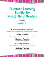 Summer Learning Bundle for Rising Third Graders - Week 5