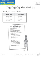 Syllable Awareness: Blending Syllables into Words - Clap,