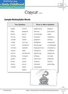 Syllable Awareness: Segmenting Words into Syllables - Copycat