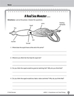 Test Prep Level 1: A Real Sea Monster Comprehension and Critical Thinking