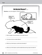 Test Prep Level 1: An Ancient Beaver? Comprehension and Critical Thinking