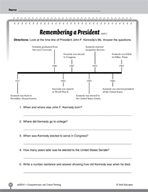 Test Prep Level 1: Remembering a President Comprehension and Critical Thinking