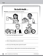 Test Prep Level 1: The Earth's Health Comprehension and Critical Thinking