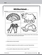 Test Prep Level 1: Wild About Animals Comprehension and Critical Thinking