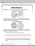 Test Prep Level 2: A Master Illustrator Comprehension and Critical Thinking