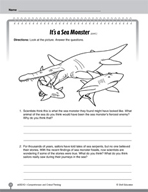 Test Prep Level 2: It's a Sea Monster Comprehension and Critical Thinking