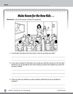 Test Prep Level 2: Make Room for New Kids Comprehension and Critical Thinking