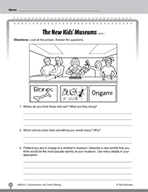Test Prep Level 2: The New Kids' Museums Comprehension and Critical Thinking