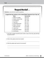 Test Prep Level 2: Thurgood Marshall Comprehension and Cri