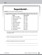 Test Prep Level 2: Thurgood Marshall Comprehension and Critical Thinking
