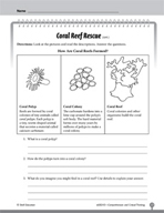 Test Prep Level 3: Coral Reef Rescue Comprehension and Critical Thinking