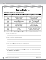 Test Prep Level 3: Dogs on Display Comprehension and Critical Thinking