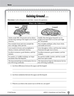 Test Prep Level 3: Gaining Ground Comprehension and Critical Thinking