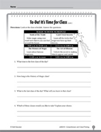 Test Prep Level 3: It's Time for Class Comprehension and Critical Thinking