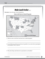 Test Prep Level 3: Make Lunch Fresher Comprehension and Critical Thinking