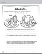 Test Prep Level 3: Mickey Gets Fit Comprehension and Criti