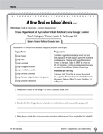 Test Prep Level 3: School Meals Comprehension and Critical Thinking