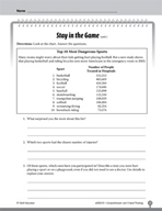 Test Prep Level 3: Stay in the Game Comprehension and Critical Thinking